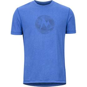 Marmot Transporter Bluzka z krótkim rękawem Mężczyźni niebieski